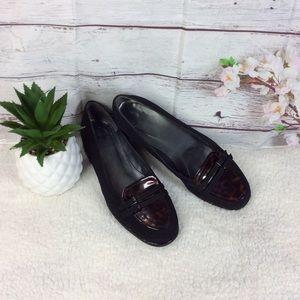 Stuart Weitzman Brown & Black Women's Loafers 7M